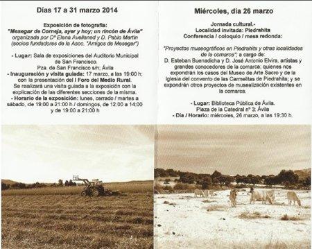Mesegar del Corneja nos invita a la I Semana Cultural del medio rural en Ávila