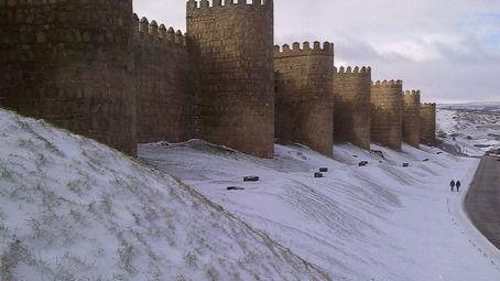 Alerta de nevadas que afecta a Ávila
