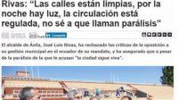 Rivas niega la parálisis de Ávila