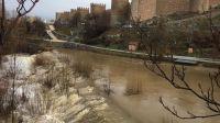 Policía Local y Protección Civil mantienen la vigilancia de los cauces de los ríos Chico y Adaja a su paso por Ávila