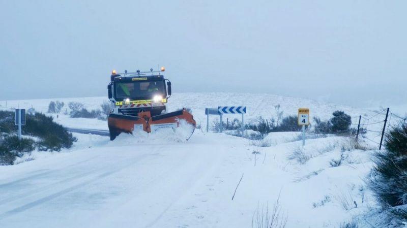 Comienza la campaña de vialidad invernal de la Diputación de Ávila
