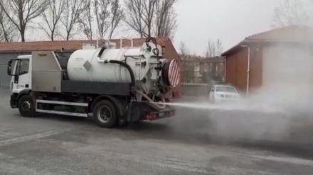 La Diputación baldeará las calles de los 247 municipios abulenses con hipoclorito sódico