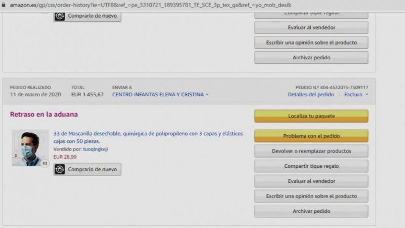 Ávila exige que se resuelva el retraso en la aduana de un pedido de material de protección sanitaria
