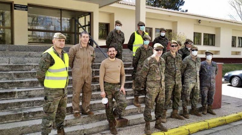 El Ejército de Tierra desinfecta las instalaciones del Centro Residencial Infantas Elena y Cristina