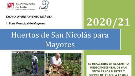 Huertos de San Nicolás para mayores 2020/2021