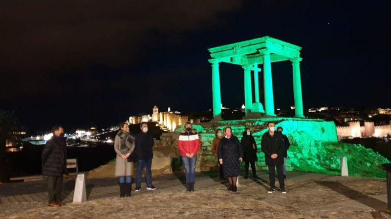 Ávila se tiñe de verde contra el cáncer