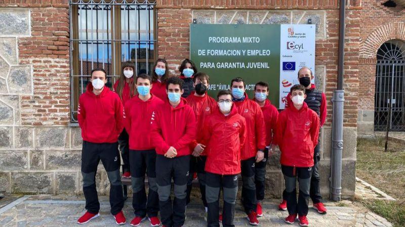'Ávila Jovenactiva' forma a una docena de trabajadores en el programa mixto de formación y empleo
