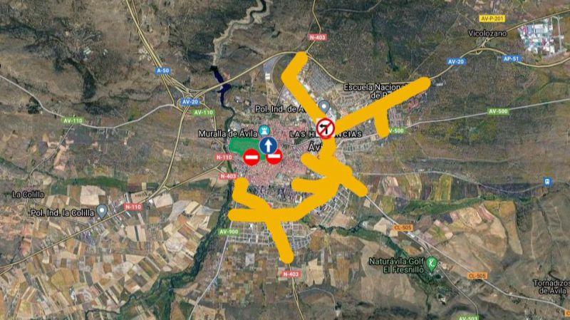 Peatonalización de varias calles del centro de Ávila durante los fines de semana