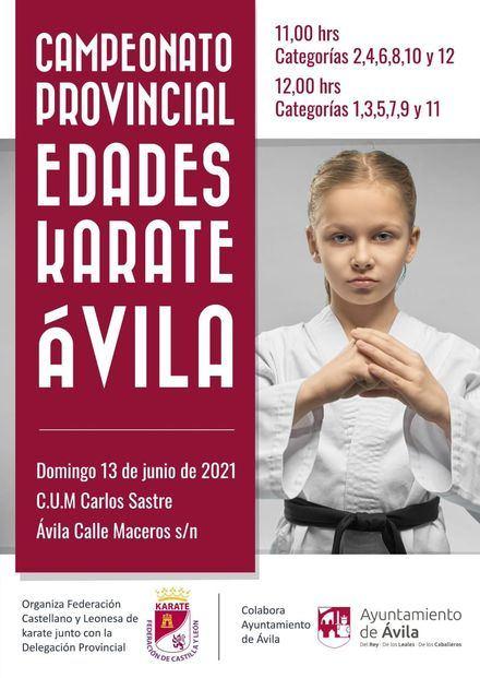 Campeonato Provincial de Karate en el CUM Carlos Sastre