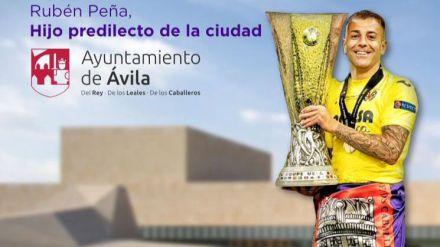 Acto de nombramiento del futbolista Rubén Peña como Hijo Predilecto de la Ciudad de Ávila
