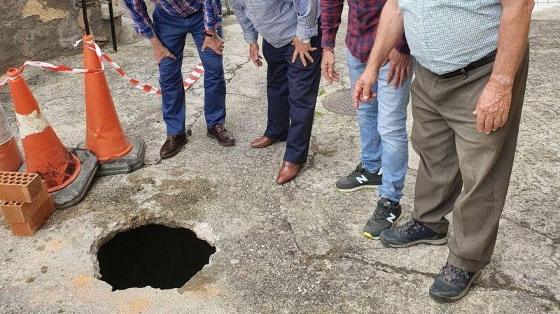 La Diputación de Ávila participa en las obras para evitar el derrumbe de una calle de Santa Cruz del Valle