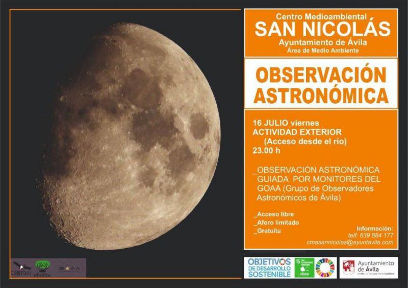 Observación astronómica en Ávila
