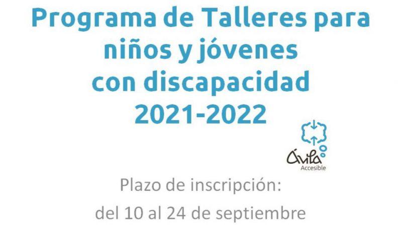 Programa de talleres para niños, niñas y jóvenes con discapacidad de Ávila