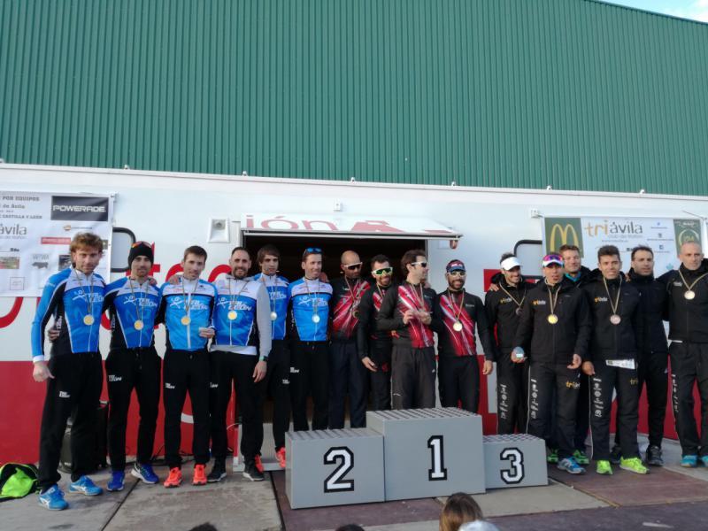 El Triatlón Eresma, campeón regional por equipos en Ávila