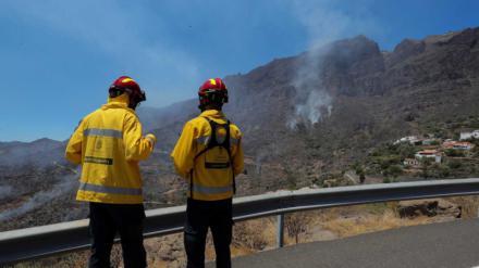 La Junta baja a nivel 0 el incendio en el término municipal de Sariegos del Bernesga