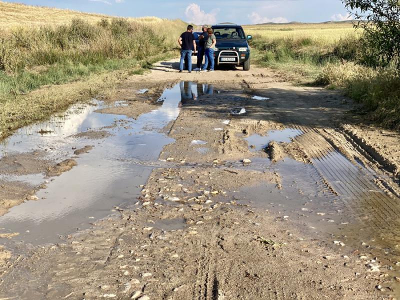 La Diputación de Ávila reparará los caminos agrícolas de La Moraña afectados por el granizo