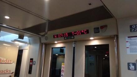 Bajo cero en un tren de Ávila a Valladolid
