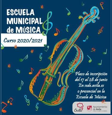 Solicitud de plaza en la Escuela Municipal de Música de Ávila