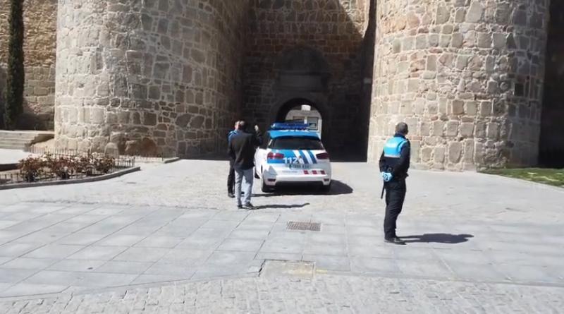 Ávila vacía durante la Alerta Sanitaria