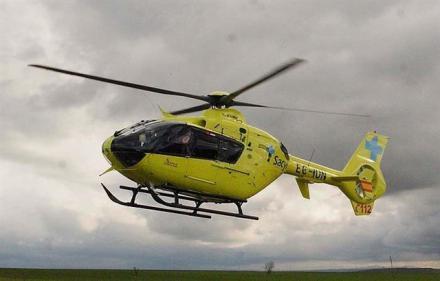 Herido el piloto de un parapente tras sufrir una caída en el despegue desde Peña Negra