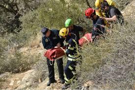 Rescatado un escalador tras ser golpeado por el desprendimiento de una roca